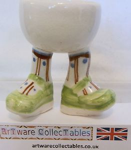Carlton Ware Lustre Pottery Walking Ware Green Shoes Standing Eggcup - SOLD